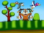 Duck Hunt - Successful hunt by VixDojoFox