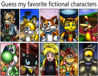 Guess my favorite fictional characters by VixDojoFox