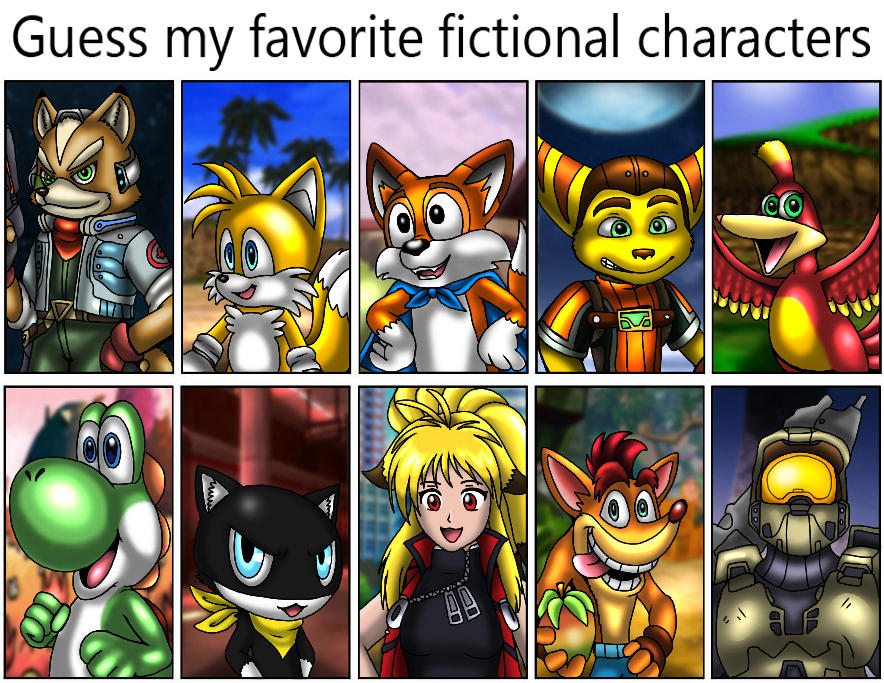 Guess my favorite fictional characters