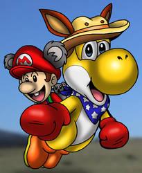 Yoshi and Baby Mario - Down under