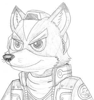 Fox McCloud - sketchy portrait