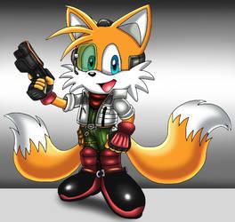 Tails as Fox McCloud by VixDojoFox