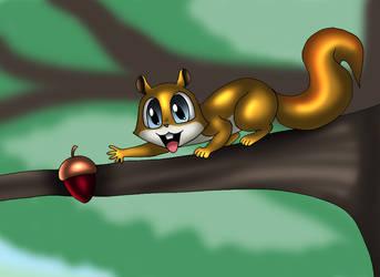 Squirrel wants an acorn