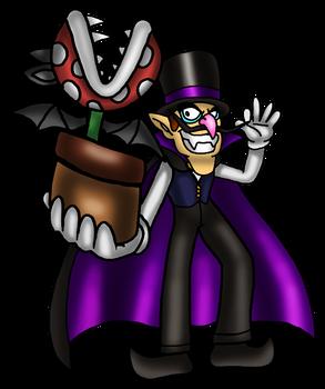Vampire Waluigi and Piranha Bat
