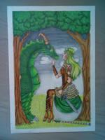 Dragongirl  by freddiidraws