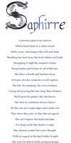 Saphirre - Poem
