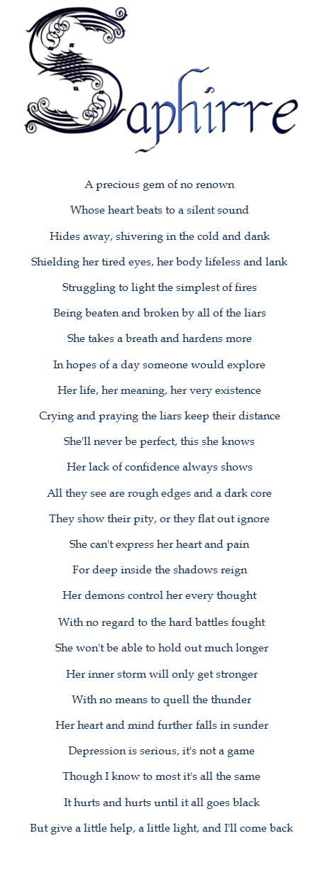 Saphirre - Poem by Antiquah