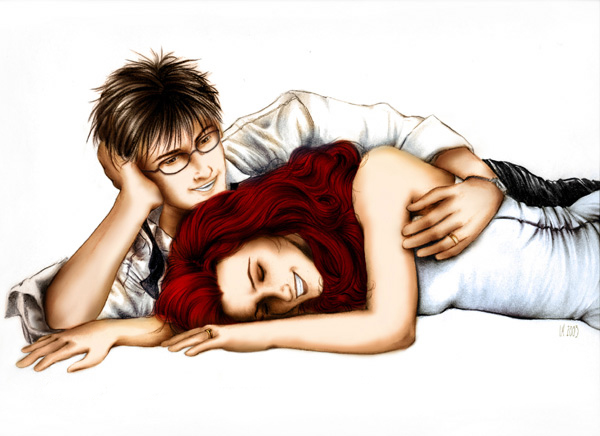 James and Lily Potter by LaurelSKY