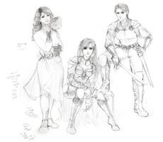 Jenn, Eve, Sorell by LaurelSKY