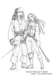 Jack Sparrow and Dreamie by dreamie