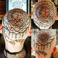 Viking henna head.