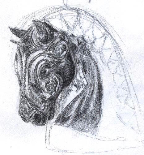 war horse sketch by igneus on DeviantArt