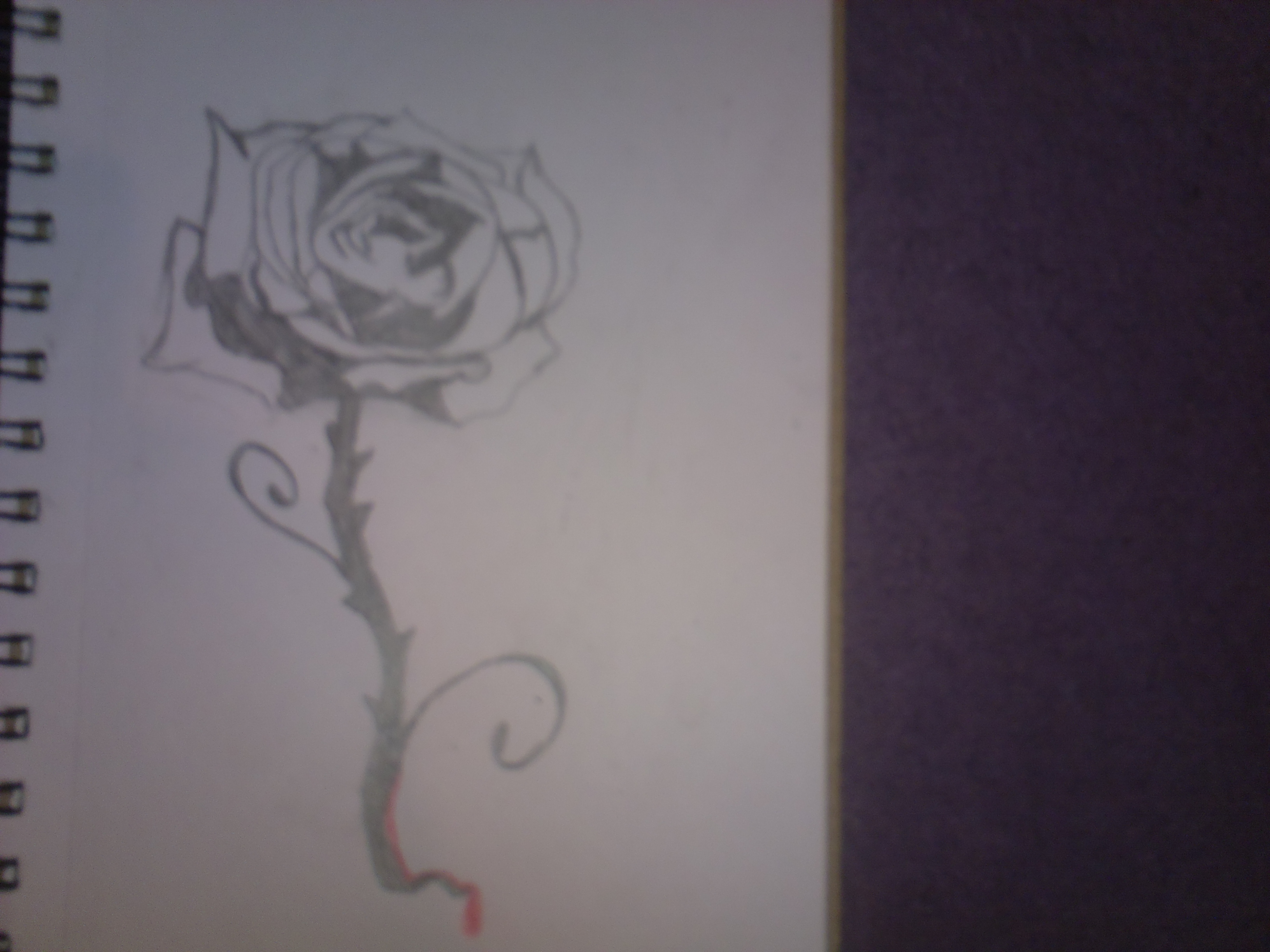 gothic blood rose tattoo design by larathekitsunecub on deviantart. Black Bedroom Furniture Sets. Home Design Ideas