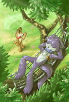 Let The Cat Sleep by Kampidh