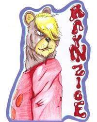 Rayinzice bear commissioned badge