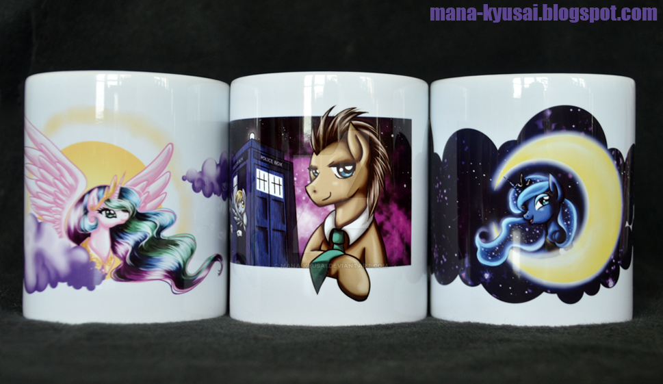 Mugs for GalaCon 2016 by Mana-Kyusai