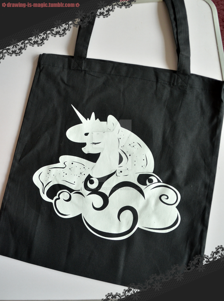 MLP: Luna cloth bag (for GalaCon 2016) by Mana-Kyusai