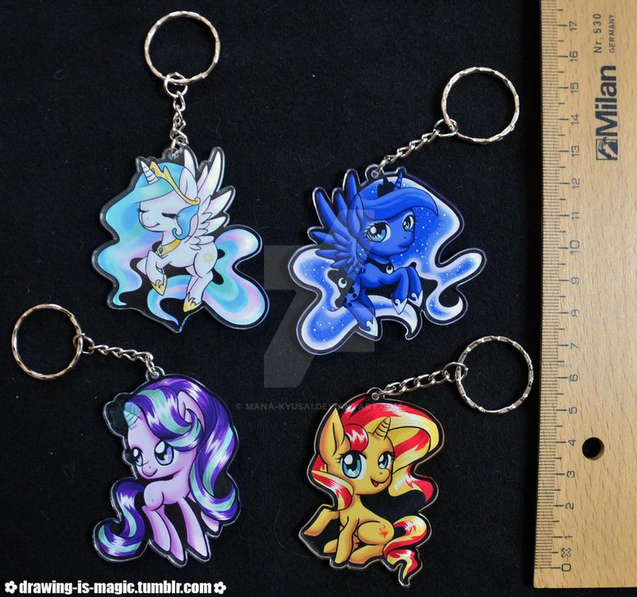 Chibi side keychains by Mana-Kyusai