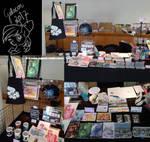 Galacon 2017 vendor table by Mana-Kyusai