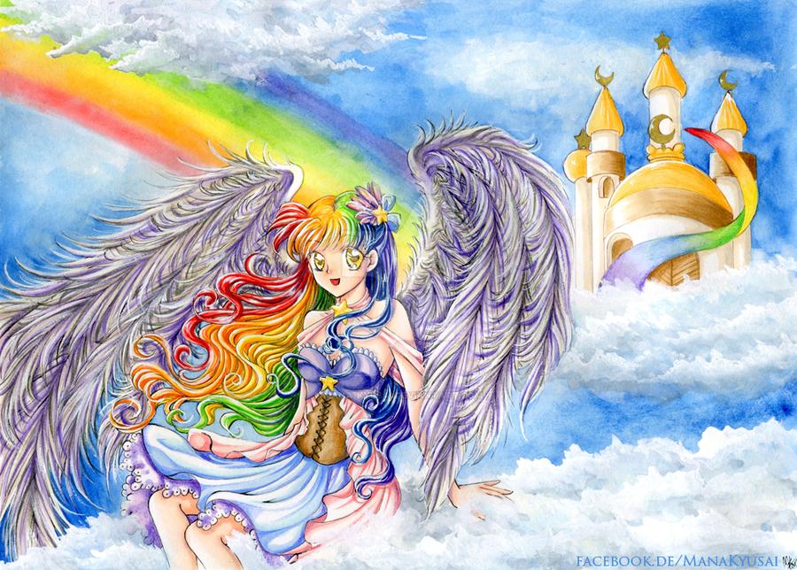 Rainbow Angel by Mana-Kyusai