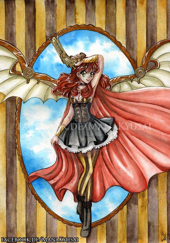 Steampunk Angel by Mana-Kyusai