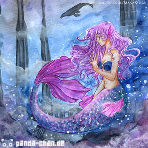 Small Mermaid Postcard motiv