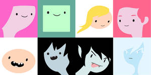 Adventure Time Portraits by ghostrockk