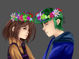 Lynn and Dinart by GabrielDrawingsxD
