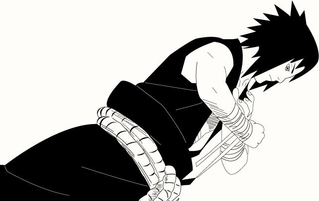 Sasuke Lineart : Sasuke uchiha lineart by zach on deviantart