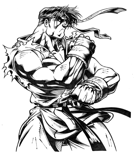 Ryu Street Fighter By Leandrotitiu On Deviantart