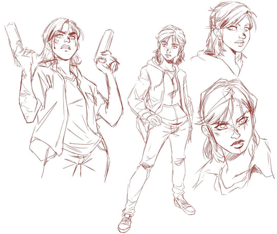 Ellie's sketch, The Last of Us - Part 2 by leandrotitiu