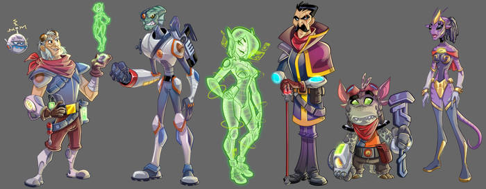 Characters design from the Star Flint's game by leandrotitiu