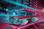 Futuristc Cyberpunk Car