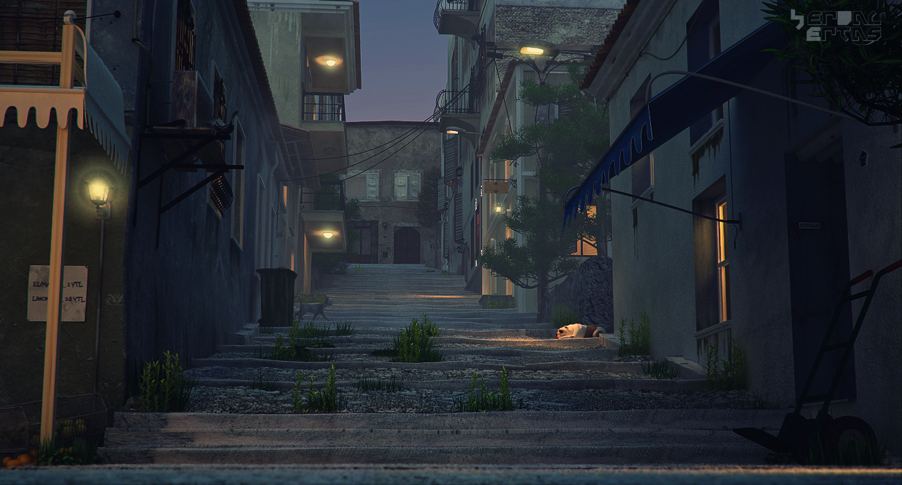 old street 2. night