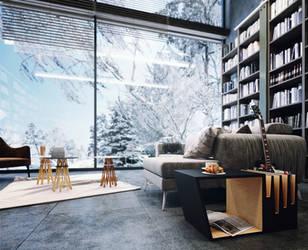 Mountain House winter by pitposum