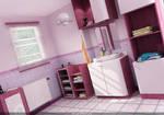 purple bathroom for my friend