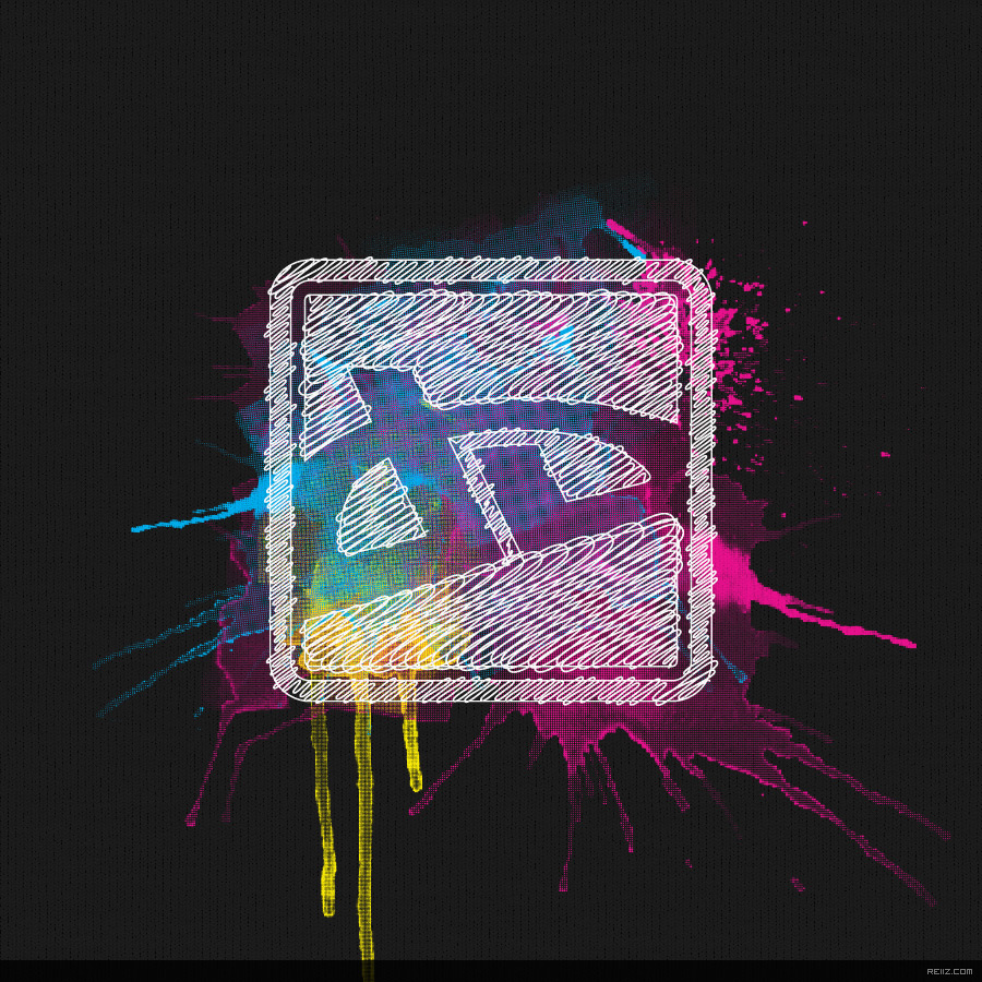 CMYK Icon Splatter by reiiz
