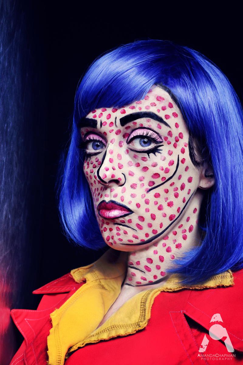 Comic halloween makeup