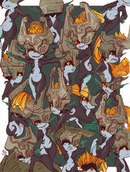 Many Midna by Foxtail-89