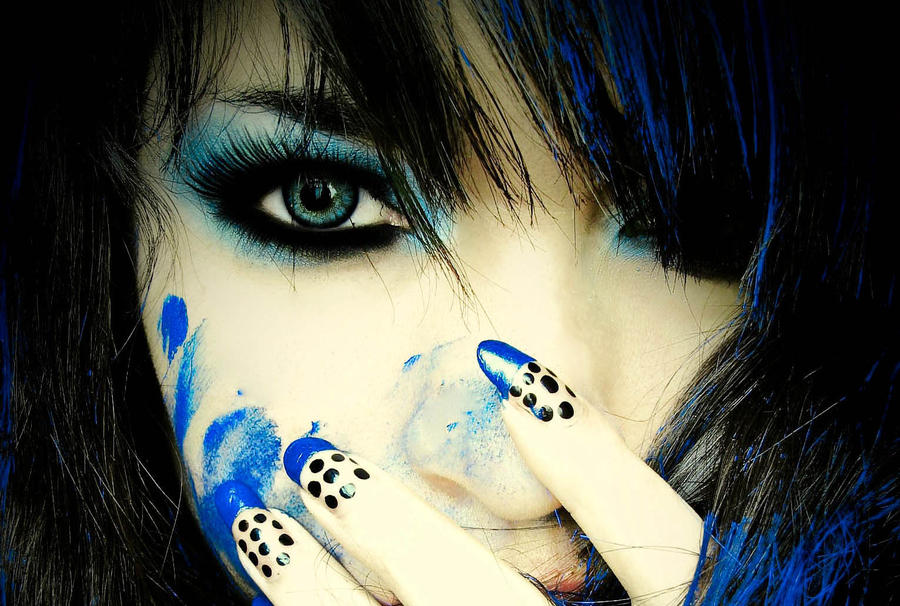 Blue Girl I by MissDoll5
