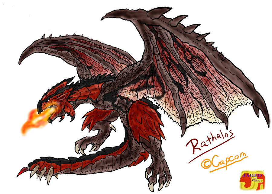 rathalos the wyvern king by vagrantverse on deviantart
