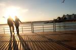 sunset walk by gnietsche