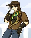 Joseph Drinking From a Mug