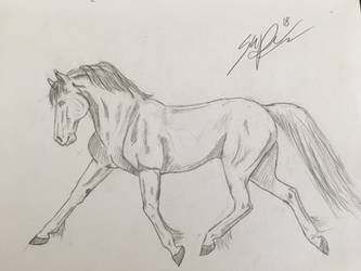 Trotting Horse Sketch by greenleo94