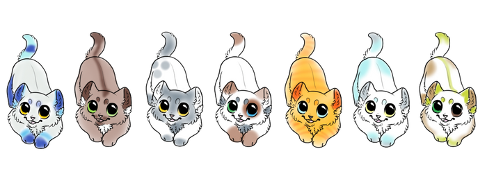 Kitten Adopts 4 points each! *2 left!* by Peak-Adopts34