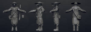 plague doctor high poly by daphz
