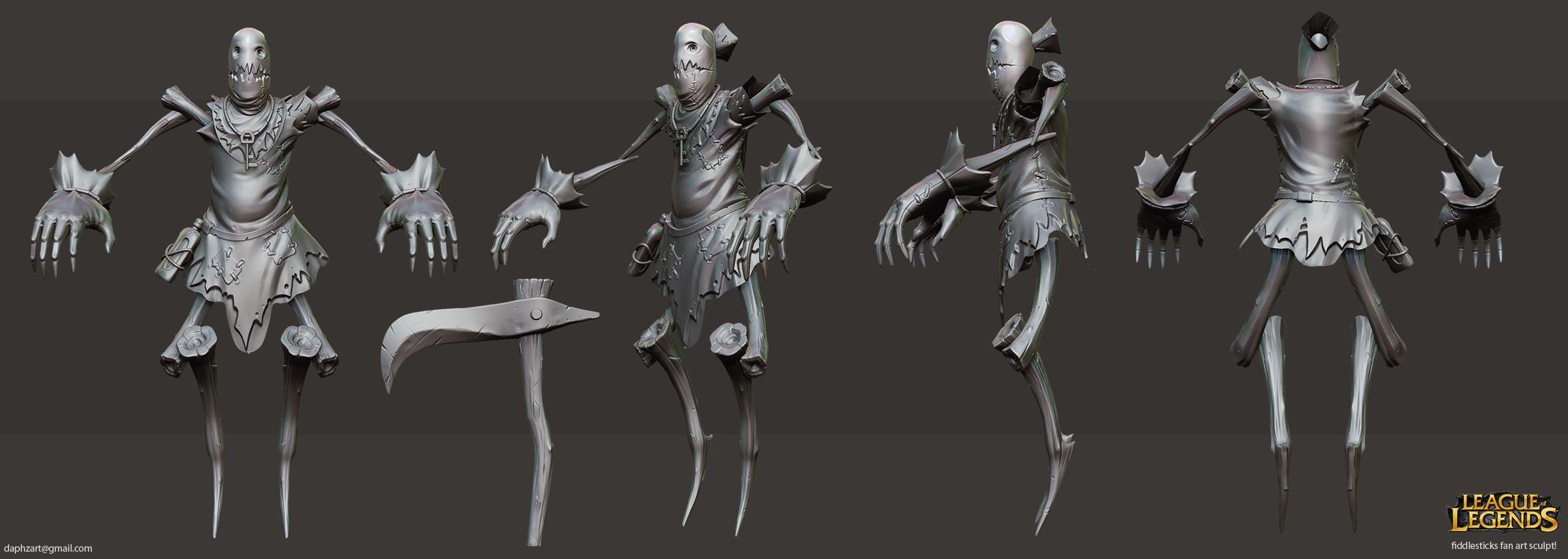 fiddlesticks fan art sculpt by daphz
