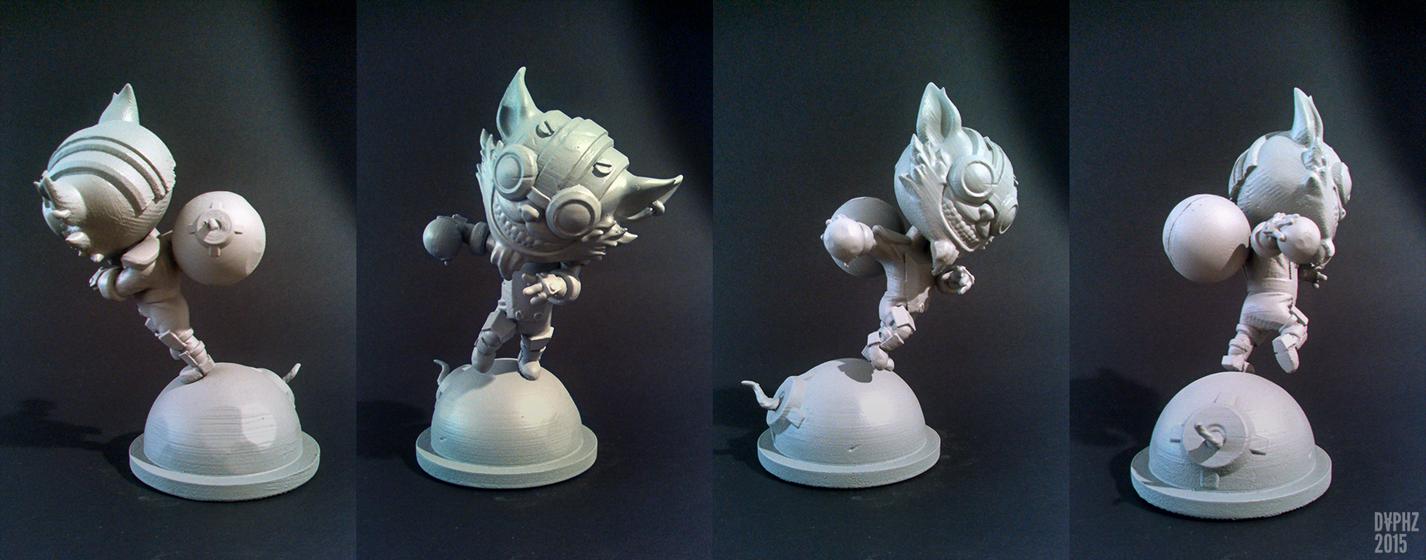 Ziggs! Statue by daphz