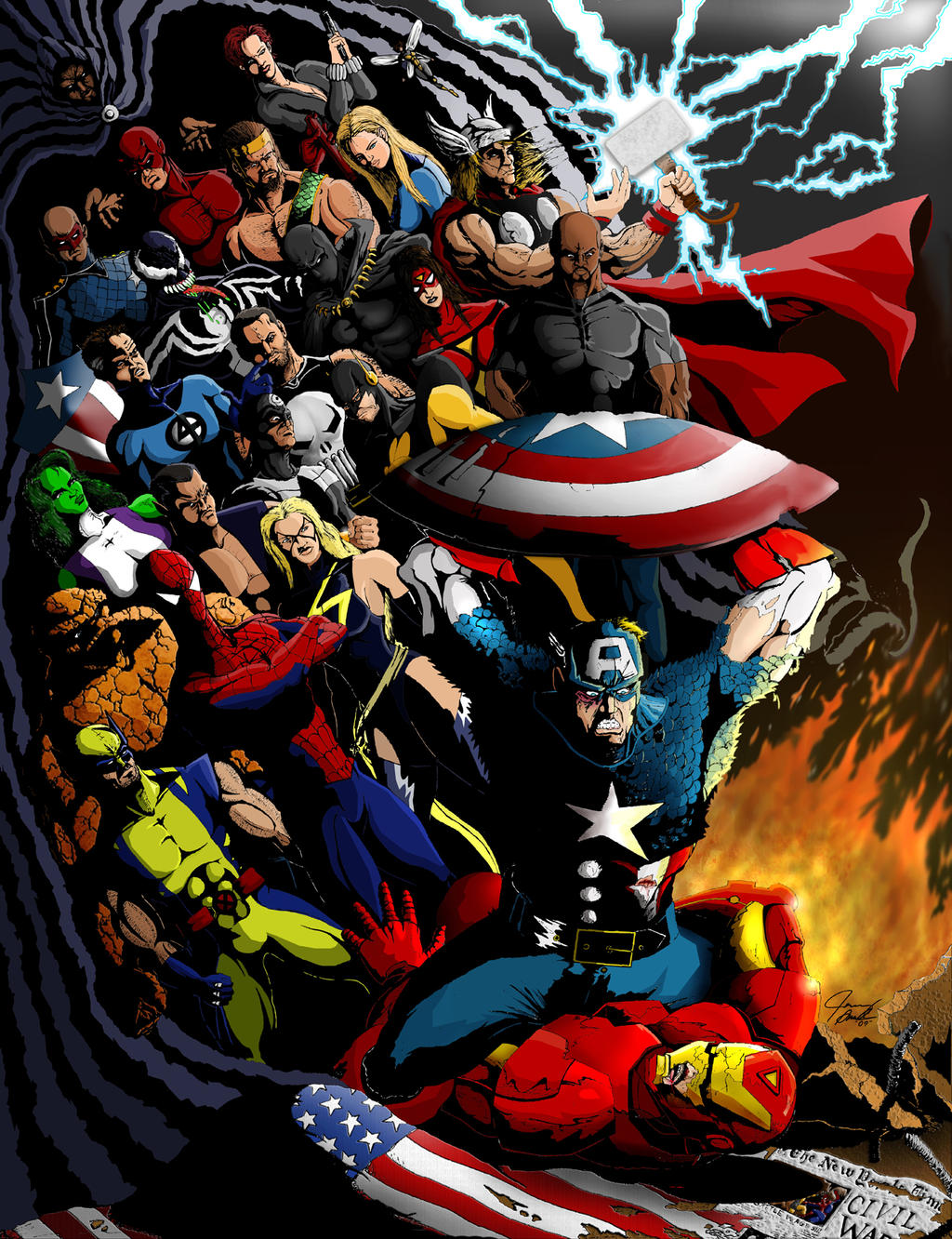 Marvel Civil War Tribute By JaDiuS10