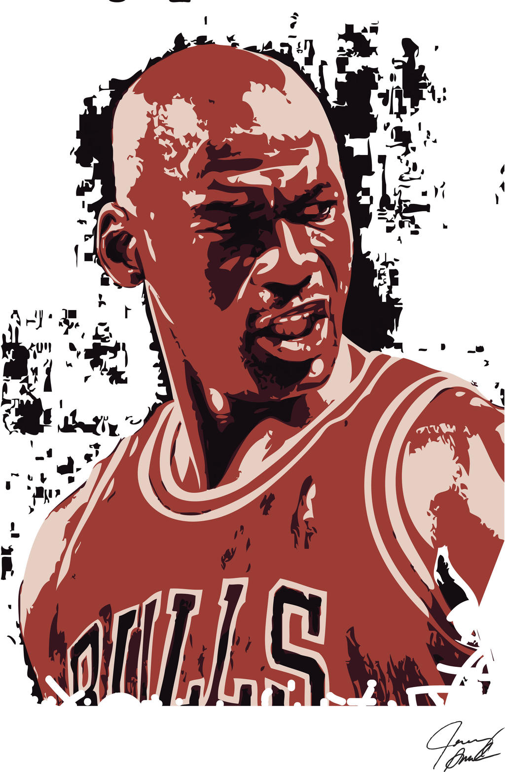 michael jordan vector art